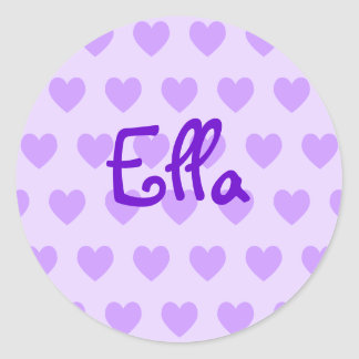 Ella in Purple Classic Round Sticker