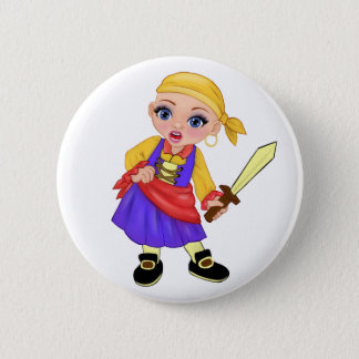 Ella The Enchanted Princess Who Are You? Pirate 2 Inch Round Button