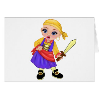 Ella The Enchanted Princess Who Are You? Pirate Card