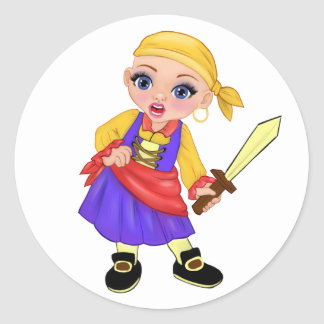 Ella The Enchanted Princess Who Are You? Pirate Classic Round Sticker