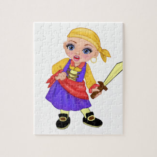 Ella The Enchanted Princess Who Are You? Pirate Jigsaw Puzzle
