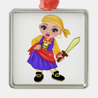 Ella The Enchanted Princess Who Are You? Pirate Metal Ornament