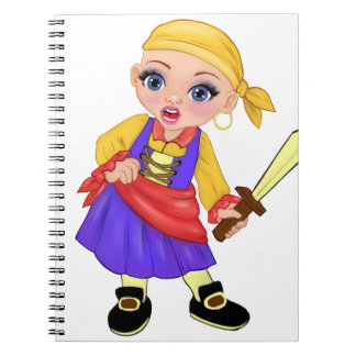 Ella The Enchanted Princess Who Are You? Pirate Notebook