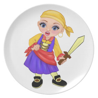 Ella The Enchanted Princess Who Are You? Pirate Plate
