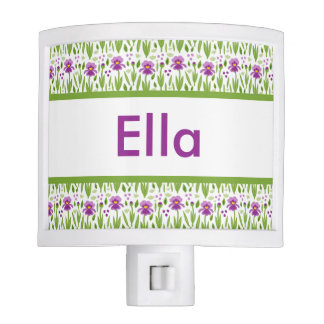 Ella's Personalized Iris  Night Light