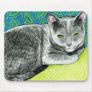 Elle the Korat Cat Mouse Pad
