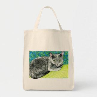 Elle the Korat Cat Tote Bag