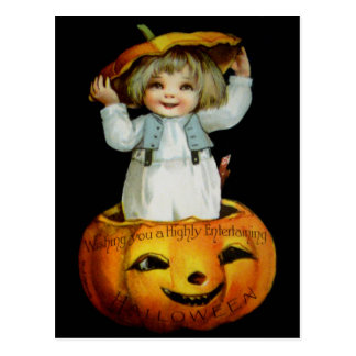 Ellen H. Clapsaddle: Boy in Pumpkin Postcard