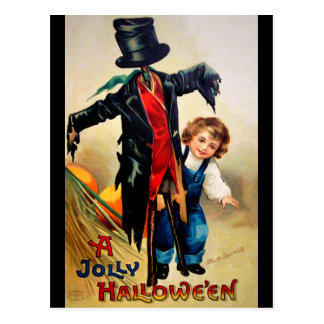 Ellen H. Clapsaddle: Boy with Scarecrow Postcard
