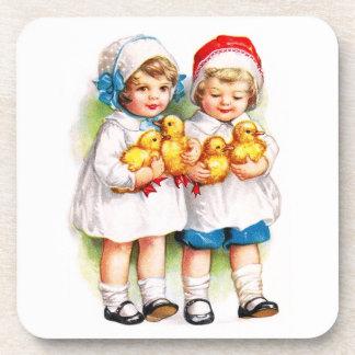 Ellen H. Clapsaddle: Children with Ducklings Coaster