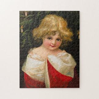 Ellen H. Clapsaddle - Christmas Girl Jigsaw Puzzle