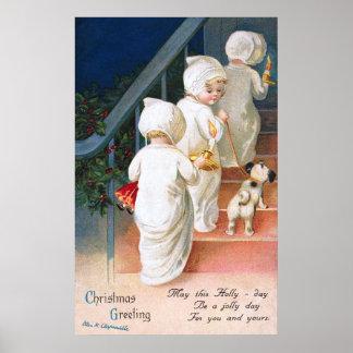 Ellen H. Clapsaddle: Christmas Toddler Girls Poster