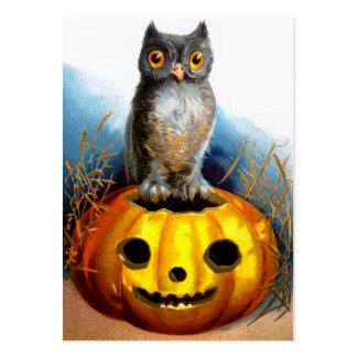 Ellen H. Clapsaddle: Halloween Owl Large Business Card