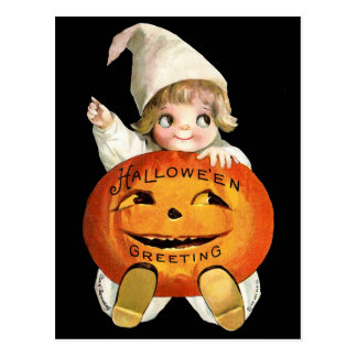 Ellen H. Clapsaddle: Little Pumpkin Boy Postcard