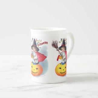 Ellen H. Clapsaddle: Little Pumpkin Witch Tea Cup