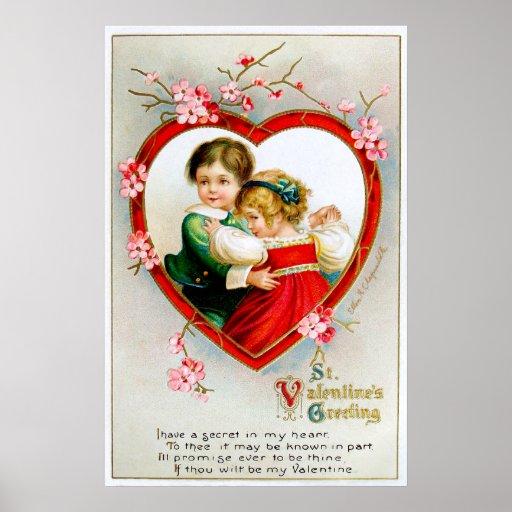 Ellen H. Clapsaddle: Secret in my Heart Poster