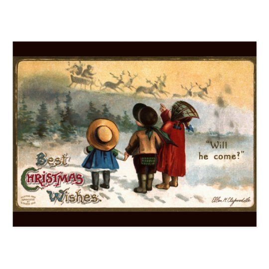 Ellen H. Clapsaddle: Will he come Postcard