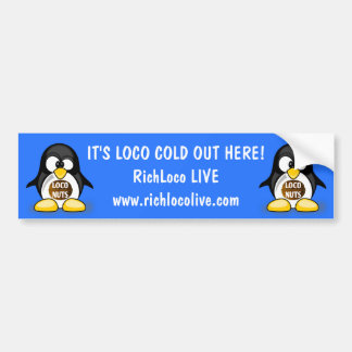 Ellen the Loco Nuts Penguin Bumper Sticker