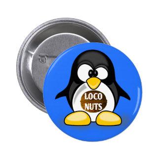 Ellen the Loco Nuts Penguin Button