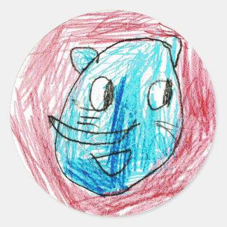 Ellie: Round Sticker