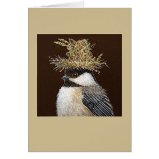 Ellie the chickadee card