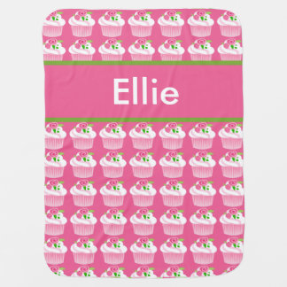 Ellie's Personalized Cupcake Blanket