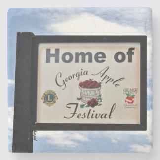 Ellijay, Georgia, Home Of Ga Apple Festival Stone Coaster