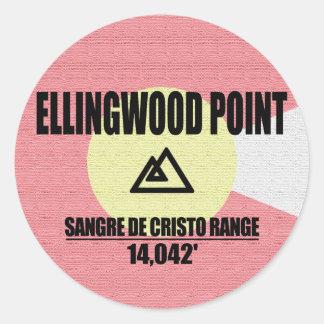Ellingwood Point Classic Round Sticker