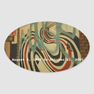 elliott smith memorial wall oval sticker