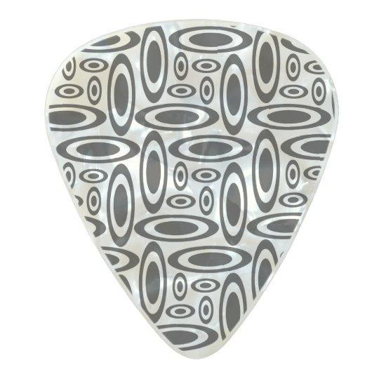 Ellipse Design Pattern Pearl Celluloid Guitar Pick