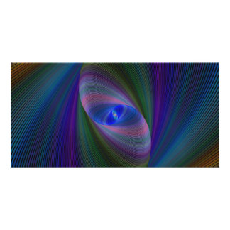 Elliptical fractal picture card