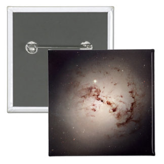 Elliptical Galaxy NGC 1316 2 Inch Square Button