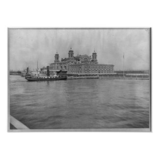 Ellis Island, N.Y. - Immigration Station 1913 Poster