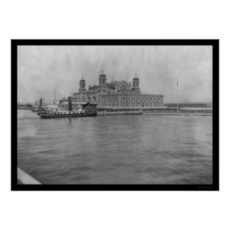Ellis Island, NY 1913 Poster