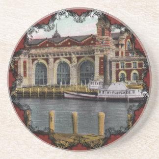 Ellis Island Vintage Coaster