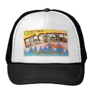 Ellsworth Maine ME Old Vintage Travel Souvenir Trucker Hat