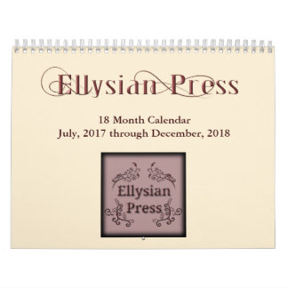 Ellysian Press 18 Month Calendar