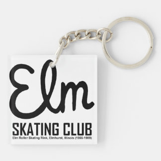 Elm Skating Club, Elmhurst, Illinois Keychain
