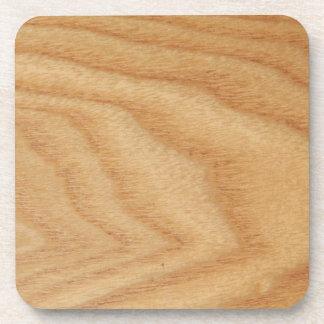 Elm Woodgrain Hard Plastic Coasters