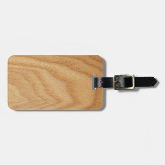 Elm Woodgrain Luggage Tag