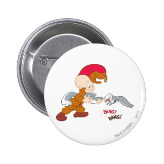 ELMER FUDD™ and BUGS BUNNY™ 2 Inch Round Button