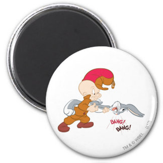 Elmer Fudd and BUGS BUNNY™ 2 Inch Round Magnet