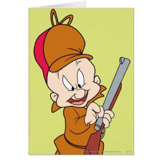 Elmer Fudd prêt à chasser Carte De Vœux