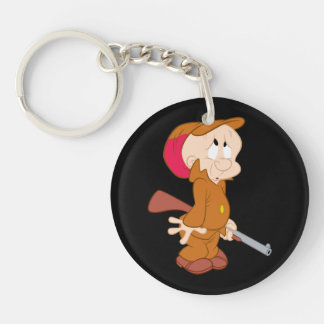 ELMER FUDD™ | Scared Pose Double-Sided Round Acrylic Keychain