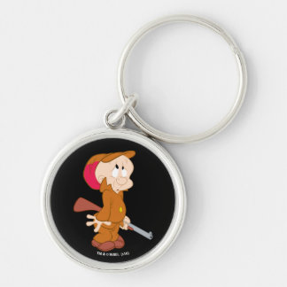 ELMER FUDD™ | Scared Pose Silver-Colored Round Keychain