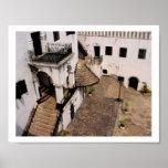 elmina castle courtyard poster