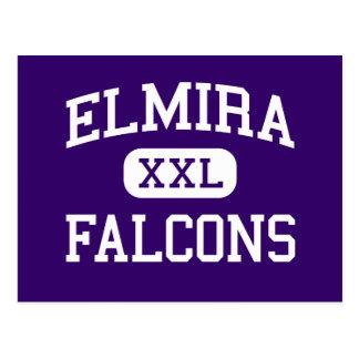 Elmira - Falcons - High School - Elmira Oregon Postcard