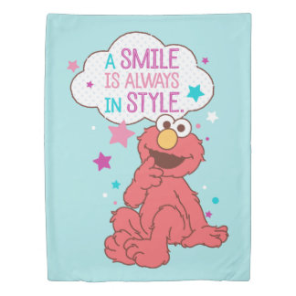 Elmo | A Smile is Always in Style Duvet Cover