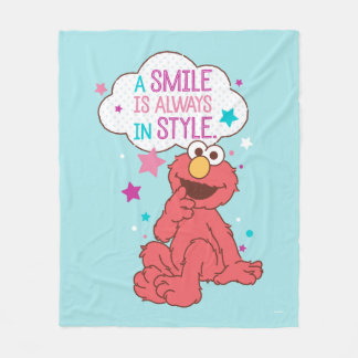 Elmo | A Smile is Always in Style Fleece Blanket