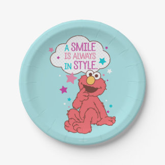 Elmo   A Smile is Always in Style Paper Plate